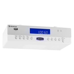 KR-100 WH radio de cuisine encastrable Bluetooth micro USB MP3 mains libres Blanc