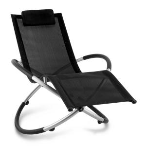Chilly Billy Aluminium Deck Chair Lounger Black Black