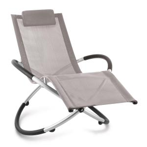 Chilly Billy Chaise longue jardin transat aluminium -taupe Gris