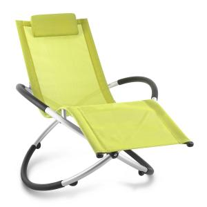 Chilly Billy Aluminium Deck Chair Lounger Lime Green