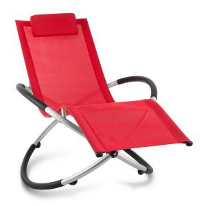 Chilly Billy Aluminium Deck Chair Lounger Red Red