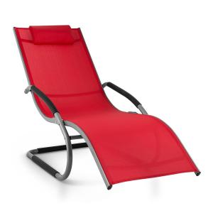Sunwave Aluminium Deck Chair Lounger Red Red