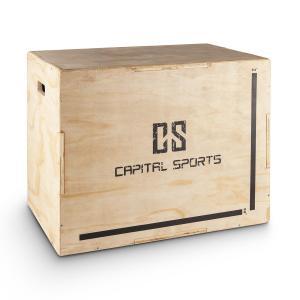 "Shineater Plyo-box jump box 3 hoogten 20"" 24"" 30"" hout Beige"