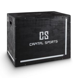 "Shineater Plyo Box 3 Heights 20"" 24"" 30"" Black Wood Black"