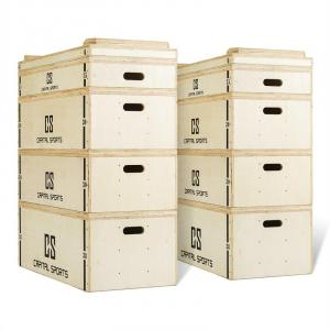 Indefea Jerk Block Set houten boxen 2 x 5 blokken 120 cm hoog