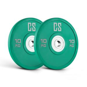 Performan Urethane Weight Plates Pair 10kg Green 2x 10 kg