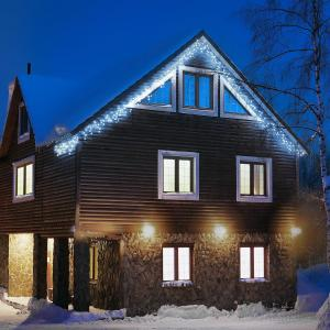 Dreamhouse Flash Guirlande lumineuse de Noël 8m 160x LED Effet flash - blanc glacé blanc froid | 8 m