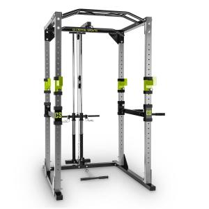 Tremendour Pl Power Rack Home Gym Lat Pull Steel Green Grey | With lat pull