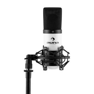 MIC-900WH USB Condenser Microphone White Cardioid Shock Mount White | Black
