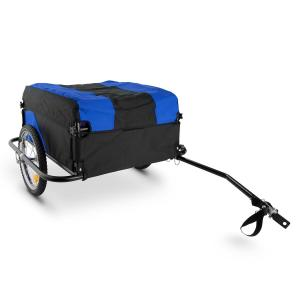 Mountee Bicycle Trailer Carrier 130l 60kg Steel Tube Blue-Black Blue