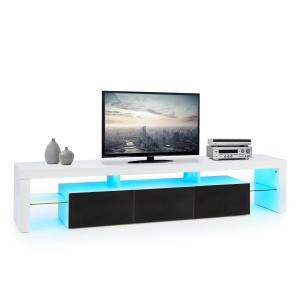 Orlando Lowboard TV-taso LED-tunnelmavalo värinvaihto musta