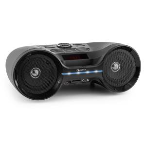 Boombastic Bluetooth Boombox USB SD MP3 AUX FM LED Battery