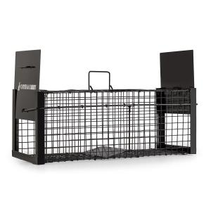 Catch & Carry M Marten Trap 20x20x52cm Live Trap 2mm Steel Black 50 cm
