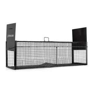 Catch & Carry L Marten Trap 31x31x104cm Live Trap 2mm Steel Black 100 cm