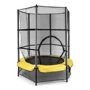 Rocketkid 3 trampoliini 140 cm turvaverkko benjiköysijousitus keltainen keltainen