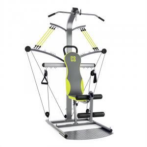 Hawser Máquina de entrenamiento metálica/verde Acero Plata