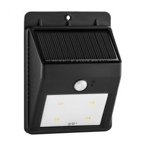 Solarlux solar-buitenlamp bewegingsmelder 4 LED koudwit kabelloos