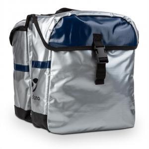 Yuka Doppelgepäckträgertasche wasserdicht 2x 9 Liter metallic/blau