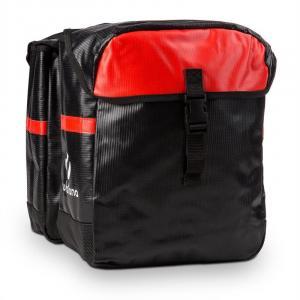 Yuka Doppelgepäckträgertasche wasserdicht 2x 9 Liter schwarz/rot