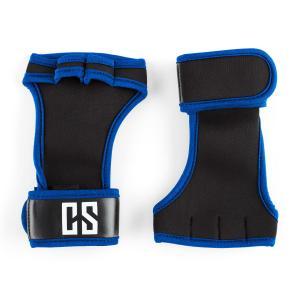Palm Pro gewichthef handschoenen maat L zwart/blauw