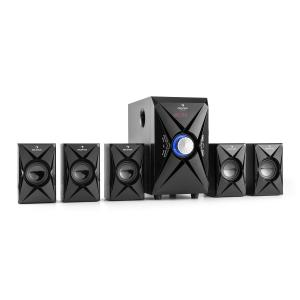 X-Plus 5.1 Altoparlanti Home Cinema USB SD AUX 100W max.