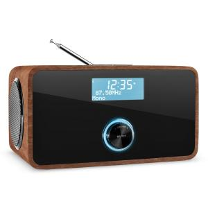 DABStep DAB / DAB + Digital Radio Bluetooth RDS FM Alarm Clock Walnut Walnut