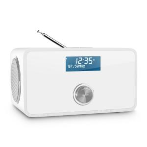 DABStep DAB/DAB+ Digitale radio Bluetooth UKW RDS Wekker wit Wit