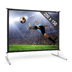 PSKC100 Foldable Projection Screen 254 cm 100 inch Aluminium Trolley Case
