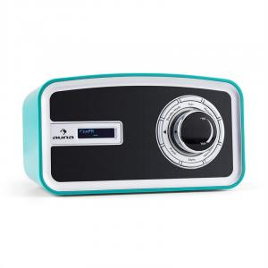 Sheffield blue Retro Digitalradio DAB+ UKW Batteriebetrieb türkis