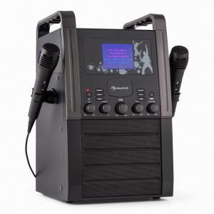 KA8B-V2 BK Karaokeanlage CD-Player AUX 2 x Mikrofon schwarz