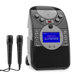 ScreenStar Karaoke Machine Camera CD USB SD MP4 incl. 2 x Microphones Black Black | No CD set