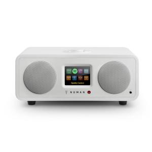 One – 2.1 Designerskie radio internetowe 20W Bluetooth Spotify Connect DAB+ białe Biały