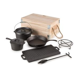 Hotrod Masterplan Dutch Oven Set 7-delig BBQ Pottenset Gietijzer