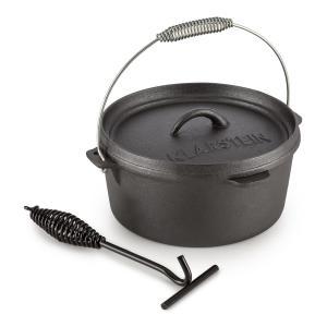 Hotrod 45 Dutch Oven BBQ-Topf 4,5 qt / 4 Liter Gusseisen schwarz
