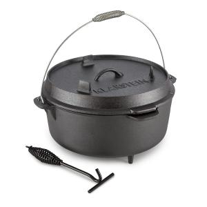 Hotrod 145 Dutch Oven garnek żeliwny BBQ 12 qt/11,4 l czarny 11,4 Ltr
