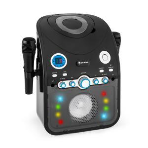 Starmaker Sistema de Som Karaoke CD Bluetooth AUX LED Multicolor 2 x Microfone Preto