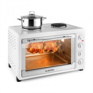 MasterChef 60 Mini Oven 2500W + 1600W 60 Litre Stainless Steel White White