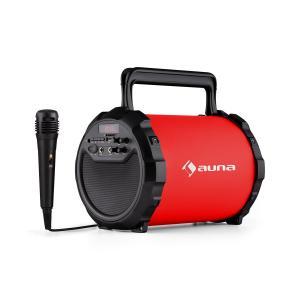 DR. Bang! Głośnik Bluetooth 2.1 USB SD AUX Akumulator z mikrofonem czerwony Czerwony
