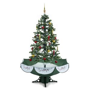 Everwhite Snowing Christmas Tree 180cm LED Music Green Green