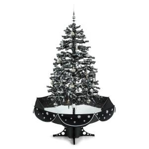 EverWhite Snowing Christmas Tree 180cm LED Music Black