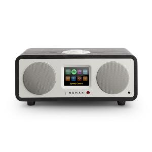 One – 2.1 Designerskie radio internetowe 20W Bluetooth Spotify DAB+ dąb czarny Czarny