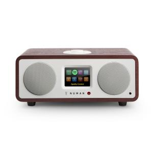 One – 2.1 Designerskie radio internetowe 20W Bluetooth Spotify DAB+ mahoń Mahoń