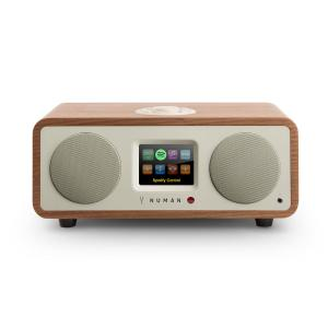 One - 2.1 Design Internet Radio 20W Bluetooth Spotify Connect DAB + Walnut Walnut