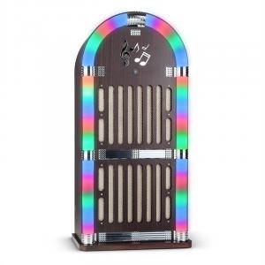Memphis DK Jukebox Bluetooth UKW 2 x AUX LED-lichteffect hout
