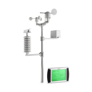 Beaufort weerstation draadloos 100m LCD-touch-display solar