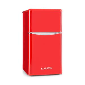Monroe Red Refrigerator & Freezer Combination 61/24 l A+ Retro Lookred Red
