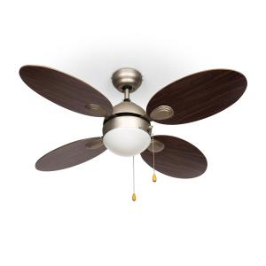 "Valderama plafondventilator 42"" 60W plafondlamp 2x43W palissanderhout Jacaranda"