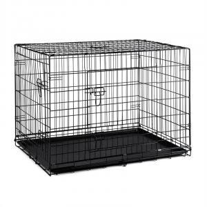 Pet Cargo L Hundetransportbox Hundekäfig 71x77x106cm Metall PVC-Wanne