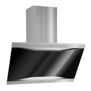 Masur Cooker Exhaust Hood Fumes Extractor Stainless Steel 90 cm Wall-Mounted 590 m³ / h Glass