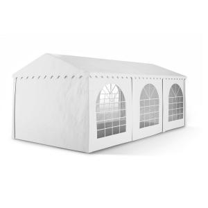 Summerfest 3 x 6 m 500 g / m² Party Tent Marquee PVC Waterproof Galvanised White 3 x 6 m / galvanised / white